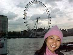 Watcharee and the 'London Eye'